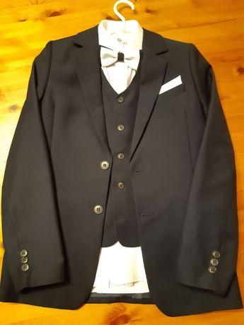 Garnitur komunijny rozm. 146 (marynarka,spodnie,kamizelka,koszula)