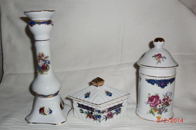 Peças de decoração em porcelana