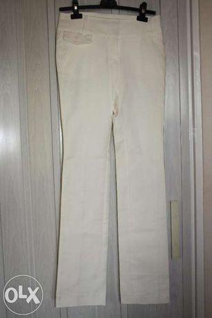 Spodnie ecru MANGO SUIT, rozmiar 34/36