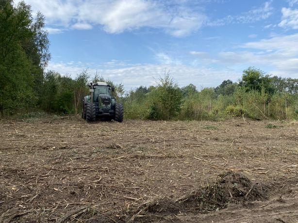 Mulczowanie terenu mulczer leśny karczowanie czyszczenie wycinka drzew