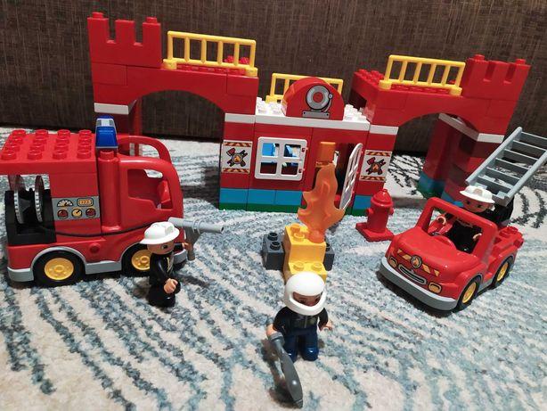 Лего дупло пожарная станция