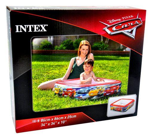 Басейн Intex 57101 Тачки розмір 85х85х23 см, об'єм 53 л від 1 до 3 рок