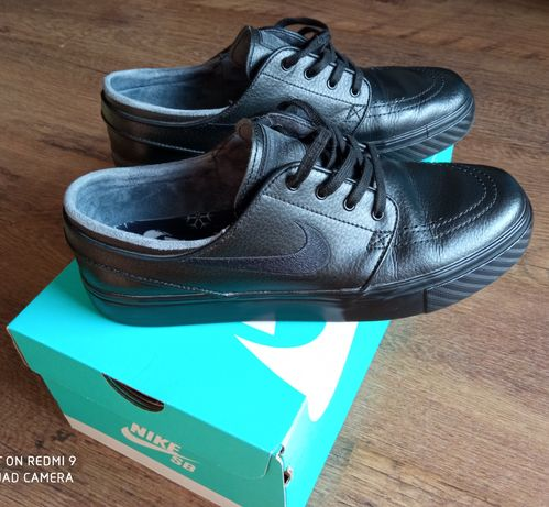 Nike SB Zoom Stefan Janoski L czarne skóra rozm. 40,5