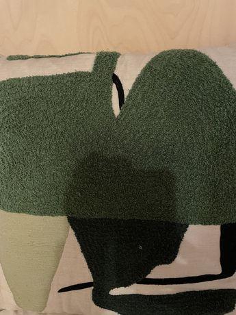 Poduszka house doctor zielona granatowa duza