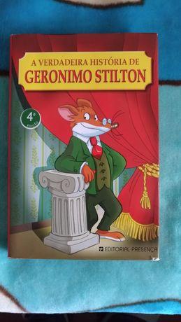 """Livro """" A Verdadeira história de Geronimo Stilton """""""