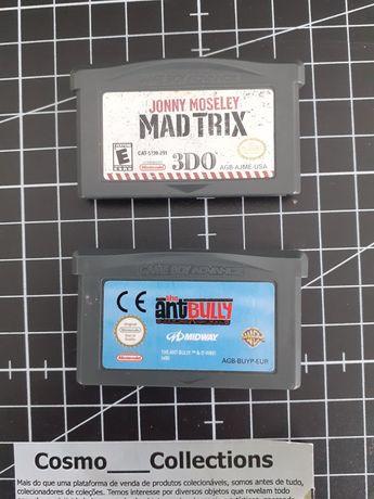 Jogos Gameboy Advanced Ant Bully e Mad Trix.