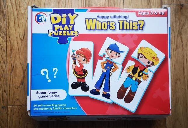 puzzle dla małego dziecka. Jaka to postać 20 obrazków