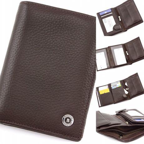 Мужской Коричневое кошелёк и портмоне без застежки для документов.