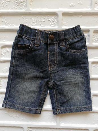 Krótkie spodenki dżinsowe rozmiar 86