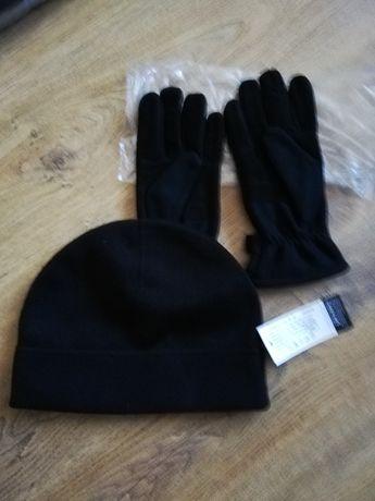 Czapka i rękawiczki zimowe wojskowe