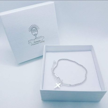 Komunia Święta chrzest biżuteria srebro 925