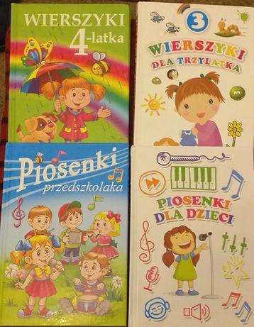 Zestaw 4 Książki z wierszykami i piosenkami dla dzieci