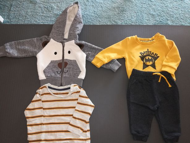 Lote roupa inverno bebé 3-6 meses