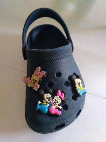 Mickey e Minnie - Pins para pulseiras e crocs (Disney)