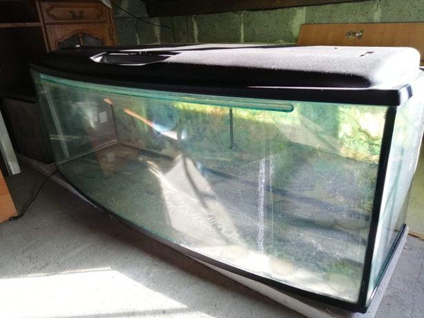 Akwarium panoramiczne 380l z szafką i drobnym osprzętem