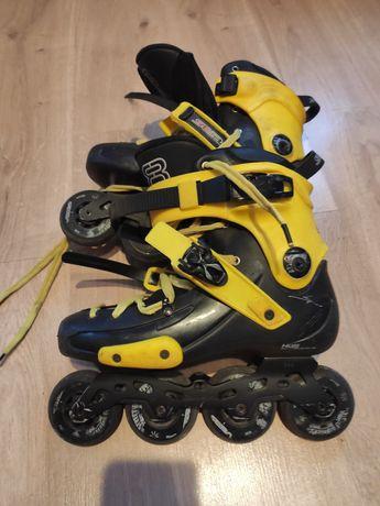 Rolki Seba Fr1 Deluxe V2 custom cit żółty rollerblade powerslide