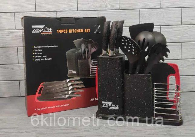 Набор кухонных ножей + набор кухонных принадлежностей Zep-Line ZP-045