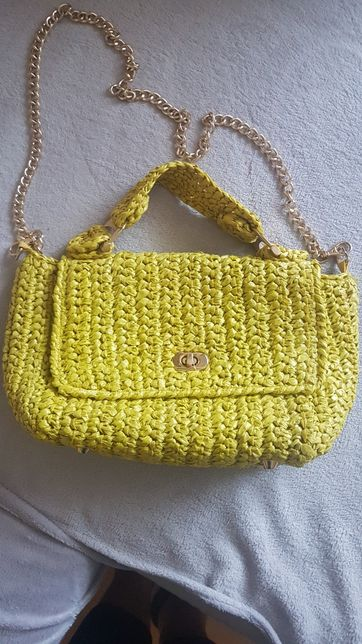 Ładna żółta torebka