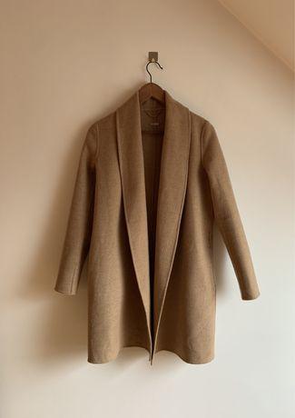 Płaszcz camel Massimo Dutti S/36 wełna 80%