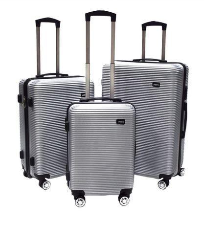 Walizka Zestaw 3 walizek na kółkach do samolotu 360stopni 1067