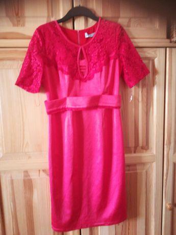 Elegancka sukienka rozm 42, Modern Line + Gratis.
