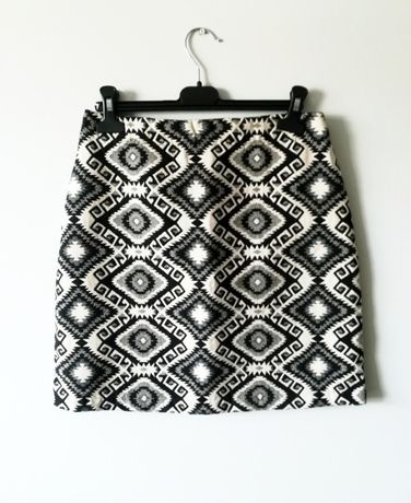 Krótka spódnica aztecki wzór boho Papaya S