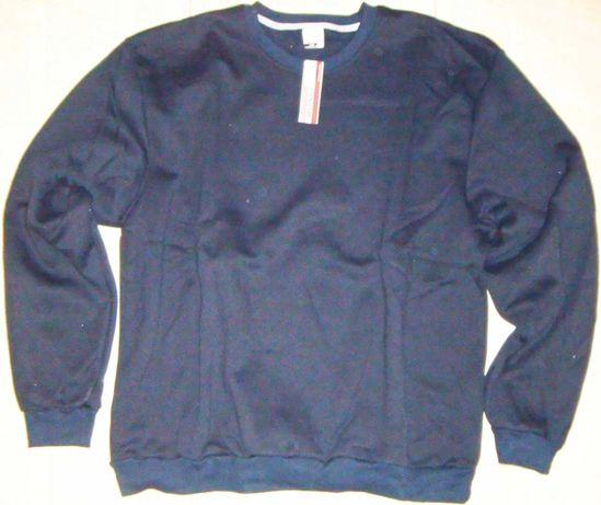 Bluza męska granat bawełna ocieplana polar rozm.3XL,4XL,5XL