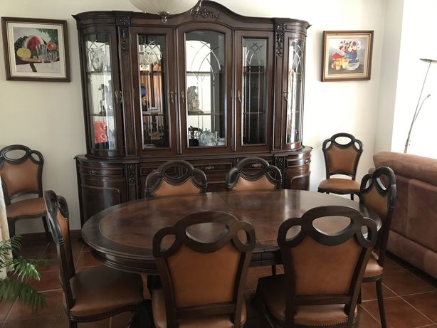 Mobília de casa de jantar -> cerejeira