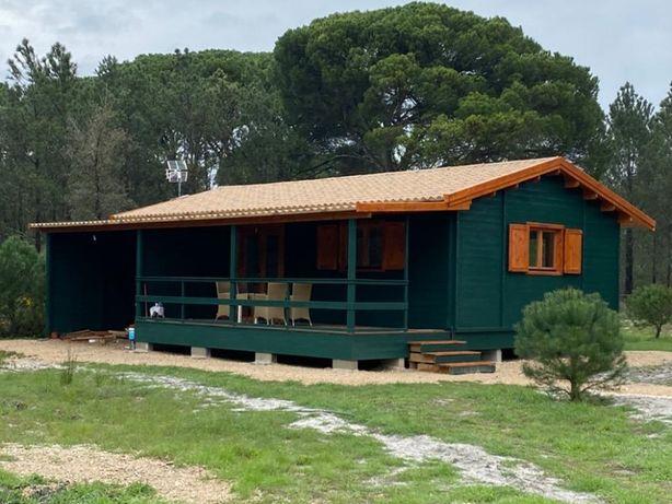 Casa de Madeira, Pré-Fabricada T2+arrecadação 60m2