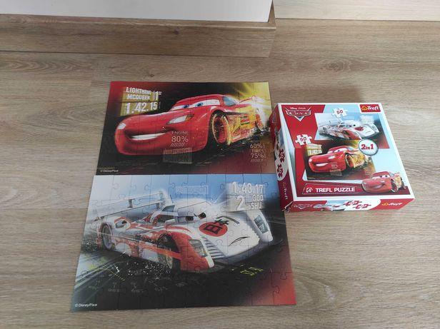 Zestaw 2x puzzle Auta - 24 elementy maxi + 2w1 po 50 elementów