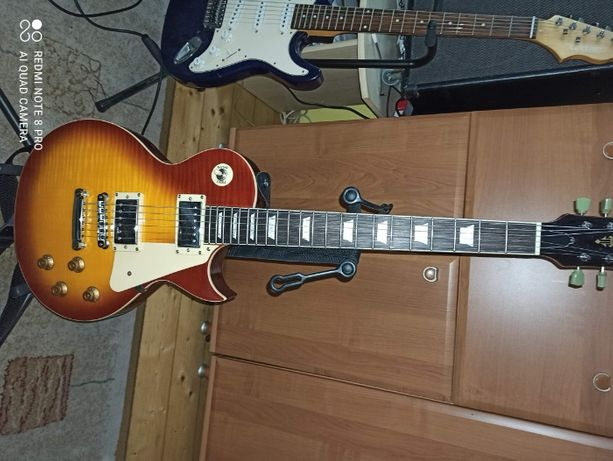 Gitara elektryczna Vintage V100+piec Line6 Spider111