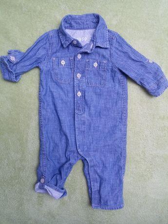 jak nowy Gap kombinezon wiosenny dla chłopca jeans rozm.62 68