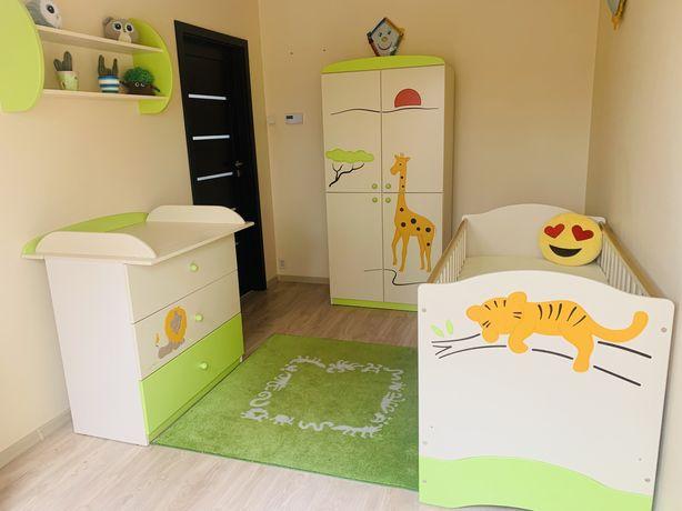 Meblik sawanna meble rosnące z dzieckiem łóżko szafa komoda półka