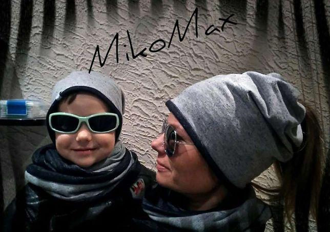 MikoMax Mama & Dziecko komplet czapa + komin