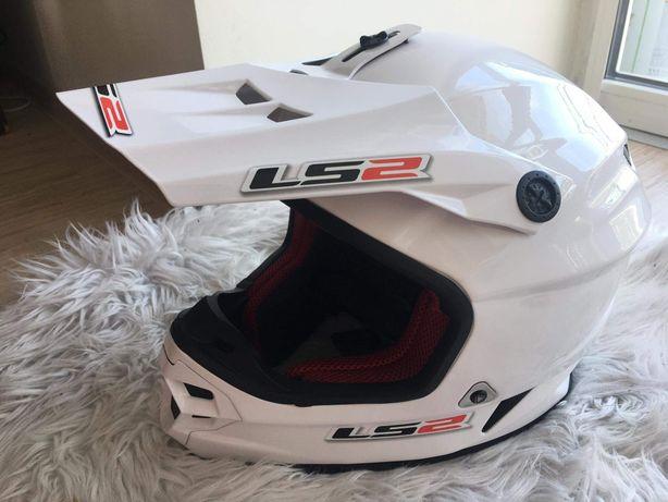 Biały kask LS2 MX456