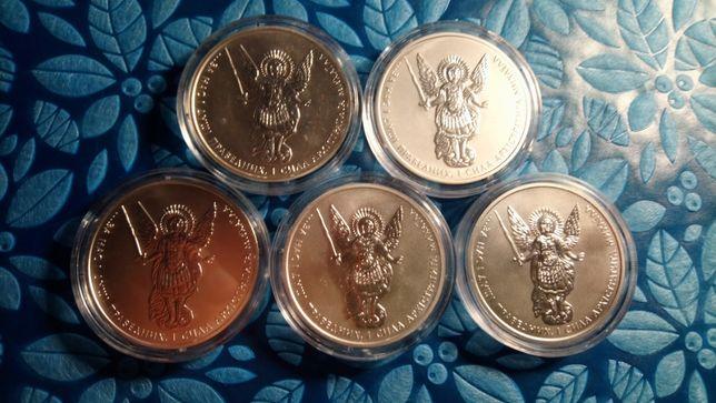 Архистратиг Михаил, 1 гривна,серебро(Ag 999,9). Набор из 5 монет