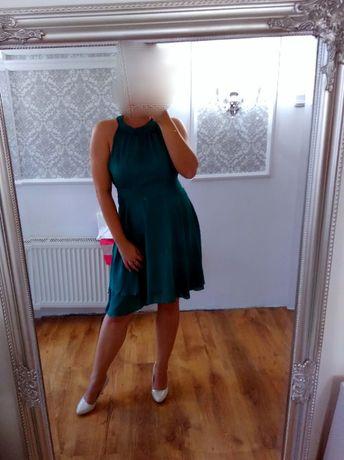 Sukienka zwiewna butelkowa zieleń
