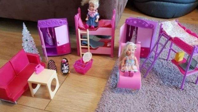 Mebelki,laleczki Simba (pokój dzieci Barbie)
