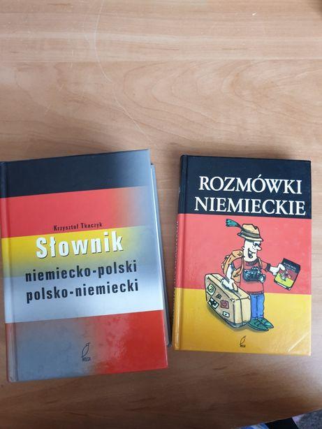Słownik niemiecko-polski + rozmówki niemieckie
