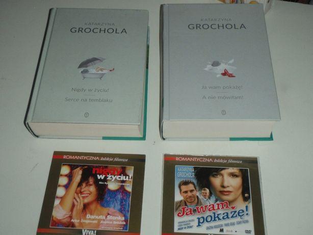 K. Grochola Nigdy w życiu , Ja wam pokażę - książki i 2 filmy DVD