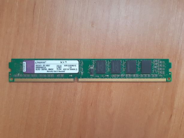 DDR3 Kingston 1Gb 1333MHz