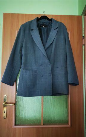Elegancki zielony żakiet w kratę rozmiar 42