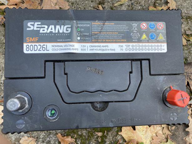 Akumulator Sebang 70AH 600 amper, prawy plus