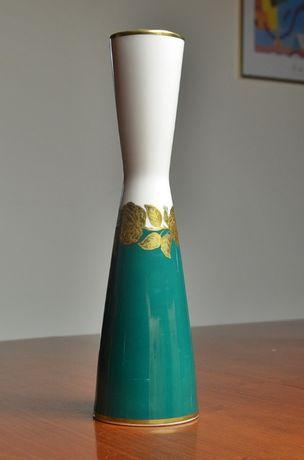 ## Smukły wazon dekorowany złotem – Bavaria ##