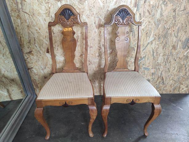 PROMOCJA! Rzeźbione krzesła ludwikowskie, 2 sztuki