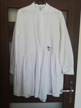 Koszula biała dłuższa