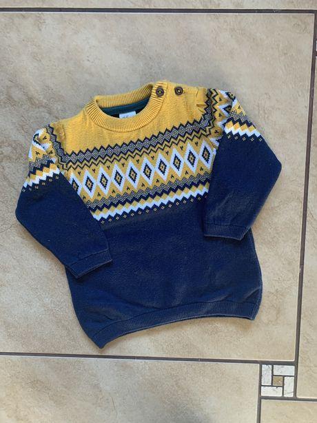 Sweterek H&M 9-12m rozm 80