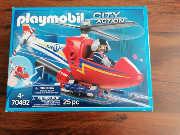 Nowy playmobil city action helikopter strażaki