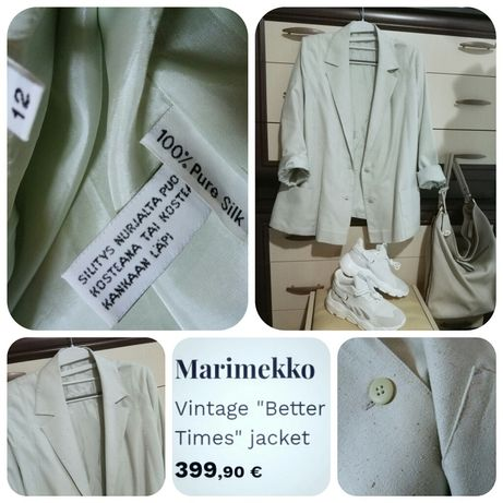 Marimekko эксклюзивный люксовый пиджак/ жакет