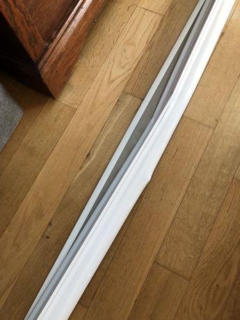 Szara roleta okienna materiałowa na wymiar 220 cm nowa
